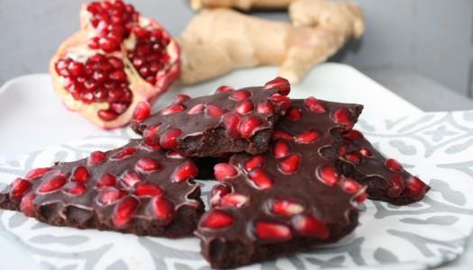 Granaatõunaga Tume Šokolaad